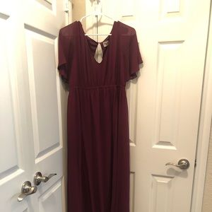 2x Merlot Chiffon Emily dress